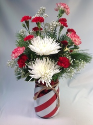 Peppermint Stripe Bouquet from Amy's Flowers and Gifts in Sparks, NV