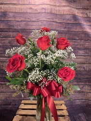 Six Red Roses in a Vase from Amy's Flowers and Gifts in Sparks, NV