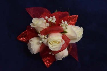 White Spray Rose Corsage from Amy's Flowers and Gifts in Sparks, NV