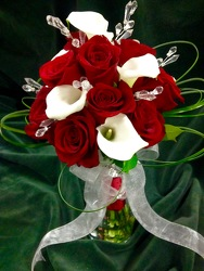 Hand-tied Calla Lilies and Red Roses from Amy's Flowers and Gifts in Sparks, NV