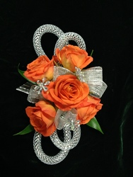 Orange Spray Rose Corsage from Amy's Flowers and Gifts in Sparks, NV