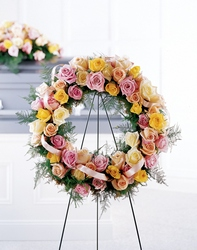 Vibrant Sympathy Wreath from Amy's Flowers and Gifts in Sparks, NV